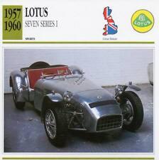 1957-1960 LOTUS SEVEN SERIES 1 Sports Classic Car Photo/Info Maxi Card