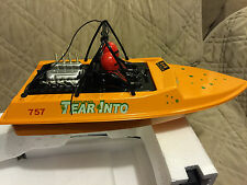 NEW NQD WATER JET POWERED YELLOW RC RADIO CONTROL BOAT WITH 390 MOTOR