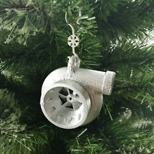 Turbo Charger Shaped Christmas Tree Bauble Silver