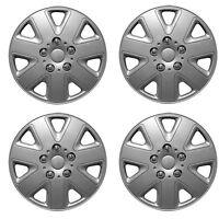 "WNB Universal 16"" Inch Wheel Trims Trim Hub Caps Silver 4 pcs Set Hurricane"