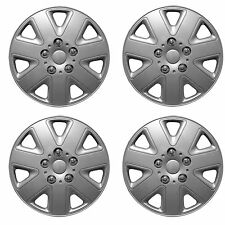"13"" Car Wheel Trims Hub Caps Plastic Covers Set of 4 Silver Universal Hurricane"