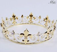Brides Round Tiara Diadem Clear Crystal Crown Headband Wedding Beauty Pageant