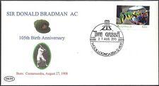 SIR DONALD BRADMAN 2013 105th BIRTHDAY COVER GABBA CRICKET POSTMARK
