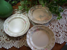 "3- Pfaltzgraff TEA ROSE Small Dessert Salad Appetizer Plates 7-1/4"" LOVELY COND"
