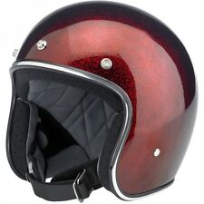Biltwell Bonanza Helmet DOT Approved 3/4 open face Extra Small Rootbeer flake