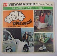 Vintage 1974 HERBIE RIDES AGAIN View Master Reels Disney Movie BUG Car