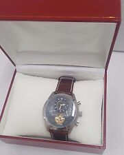 BERNOULLI AUTOMATIC MENS WATCH GENUINE LEATHER BAND NEW