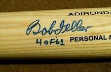 BOB FELLER Autographed ADIDIRONDACK Baseball Bat INDIANS BF3