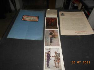 RR! Sammelbogen Muster Spendenkarten Kriegs-Invaliden Kaiserliche Marine 1916