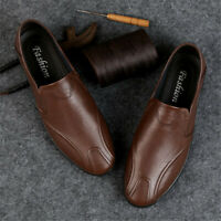 Men's Casual Leather Shoes Breathable Moccasins Soft Walking Driving Shoes