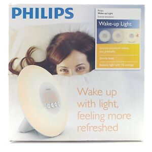 Philips Sleep Wake-up Light with Sunrise Simulation Alarm Clock White HF3500/60