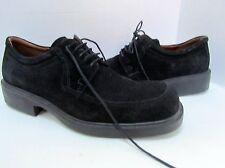 Ecco City Black Suede Loafers Oxfords 44 10.5 EXC