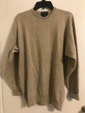 Burberry Women's Long Sleeve Cashmere Sweater Crew Neck Sz L #C4