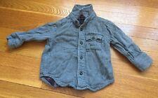 Baby Gap Gray Heavyweight Long-sleeved Button Shirt, size 12-18 months