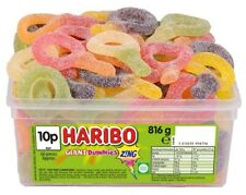 HARIBO GIANT SOUR SUCKERS SWEETS 1 TUB  WHOLESALE DISCOUNT TREATS PARTY CANDY