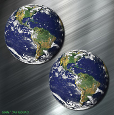 (2) TWO Earth World Vinyl Decal Sticker For Car Laptop Skateboard Mundo NEW!