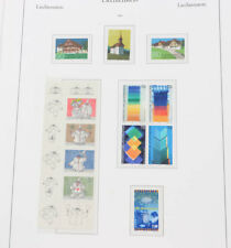 Liechtenstein 1967 bis 1998 postfrische Neuheiten-Sammlung auf Falzlos-Blätter