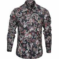 Replay Paisley Print Men's Shirt, Black/Multi