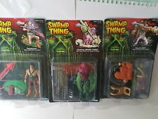 Rare SWAMP THING bayou jack Tomahawk Action Figure lot MOC 1990 Kenner unopened