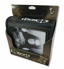 Ozzy Osbourbe Black and White Faux Leather Black 24 CD Case Wallet New Official