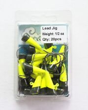 20 NEW Painted shad Trout JigHeads 1/2 oz Fishing Hooks Lures Bait Tackles 3/0