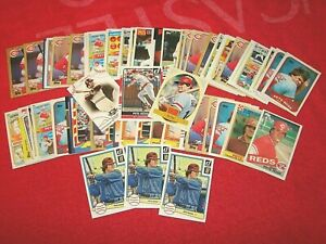 PETE ROSE REDS PHILLIES LOT OF 58 CARDS (18-75)