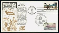 US FDC 1992 COVER MARINES LAND ON GUADALCANAL