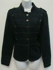 OASIS JEANS WOMENS MILITARY STYLE JACKET SIZE 16 BLUE COTTON CANVAS