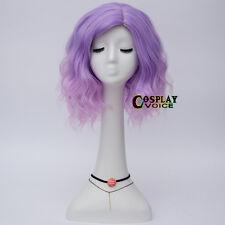 35CM Lolita Mixed Light Purple Short Ombre Party Wavy Popular Cosplay Cute Wig