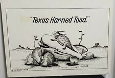 Horned Toad Texas Risque DUDE LARSEN Large Postcard Storyboard Hoke Denetsosie