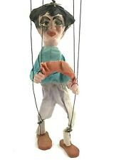 "Antique Vintage American Handmade Folk Art Marionette Doll Puppet 14"""