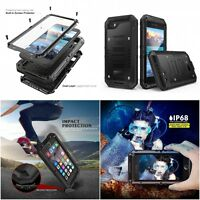 Life proof Waterproof ShockProof Metal Case iPhone 5 6 7 8 IP68 Genuine MAXIPRO™