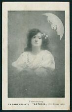 Circus ASTEIA Flying Lady & Moon Face original old 1910s postcard