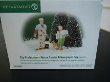 """Dept 56 Christmas in the City """"City Professions-House Painter & Newspaper Boy"""""""