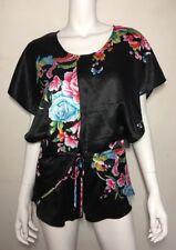 New! ONE TEASPOON black floral silky playsuit ~ sz XS