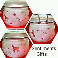Engraved LED Nightlight Jar - Unicorns, Rainbows, Dream, Magic - New