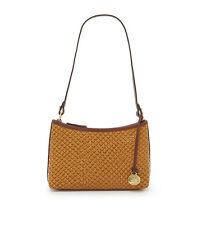 Brahmin Anytime Mini Tobacco Java Leather Pouch Shoulder Bag