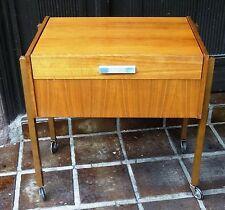 mid century danish design 60's sewing table - Nussholz Nähtisch Nähschrank 60er