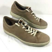 Ecco Casual Sneakers Brown leather Sz 44 10-10.5