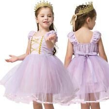 Summer Girl Clothes Kids Princess Rapunzel Costume Birthday Dress Party Dresses