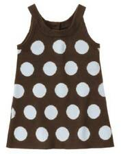 Nwt Gymboree Girl's Best Friend Blue Brown Polka Dot Jumper Dress 5T 5