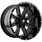 "4-20"" Inch Ballistic 959 Rage 20x10 6x135/6x5.5"" -19mm Black/Milled Wheels Rims"