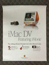 "APPLE STORE POSTER - ""iMac DV"" THINK DIFFERENT 1999 - ORIGINAL"