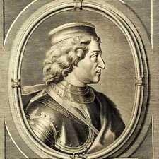 Portrait de Ferry III Alsace Lorraine grance Gravure originale XVIIIe