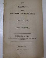 Original Government Doc 1814 James Patton Petition Security Bonds Revenue