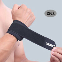 Sports Wrist Band Brace Wrap Adjustable Support Gym Strap Carpal Tunnel Bandage