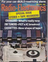 Radio Electronics Magazine October 1968 Stereo Tuners Tape Recorders ,100 pages
