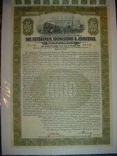 Pittsburgh Youngstown & Ashtabula Railway Bond Stock Certificate Olive