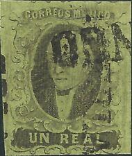 J) 1861 Mexico, Hidalgo, Un Real, Puebla, Plate Iii, Mn