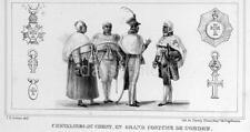 Caballeros de Cristo usando Gala trajes de la orden Brasil 1839, 7x3 pulgadas impresión